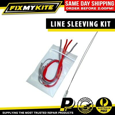 Sleeve Line Kit With Wire Sleeving Tool - Fixmykite Broken Kite Line Repair