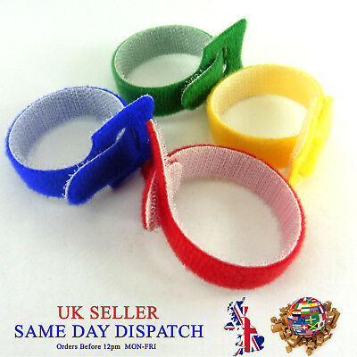 15cm Reusable Loop Hook Cable Ties Wire Organizer Straps Tidy Wrap