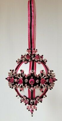 The Glimmer Tree Bead Sequin Satin Ball Christmas Ornament Kit - Miss Rose