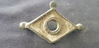 Superb VR Roman bronze evil eye brooch missing pin Please read description L87q