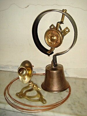 Victorian Door Bell,Servants Bell.Pull & Cranks,Antique Bell.