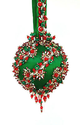 The Glimmer Tree Bead Sequin Satin Ball Christmas Ornament Kit - Sleigh Ride