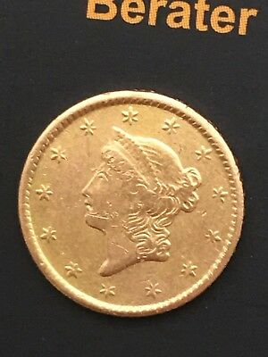 USA 1 Dollar 1854 - Liberty Head - Type 1 - KM# 73 - vz - GOLD