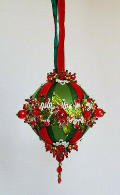 The Glimmer Tree Bead Sequin Satin Ball Christmas Ornament Kit - Garland