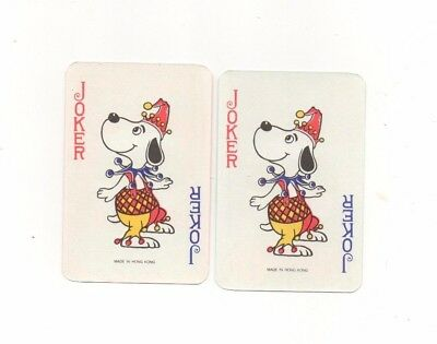 Lot of 2 Vintage Playing Cards ~ Coca-Cola ~ Charles Schulz  SNOOPY Jokers