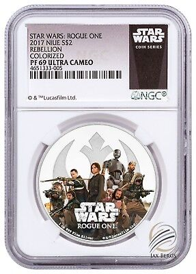 2017 Niue Star Wars: Rogue One - Rebellion 1 oz Silver $2 NGC PF69 Ultra Cameo