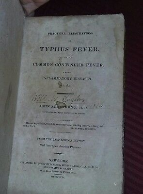 Antique Medical Book Rare 1820's Typhoid Fever