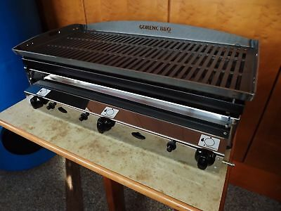 CATERING LAVA STONE GRILL Kebab Char Grill / Stake grill LPG GRILL 80X40 cm