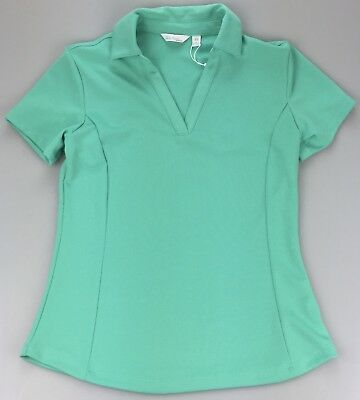 85b20090af8b5 Lady Hagen Womens Extra Small XS Essentials Golf SS Polo Shirt Aqua Green