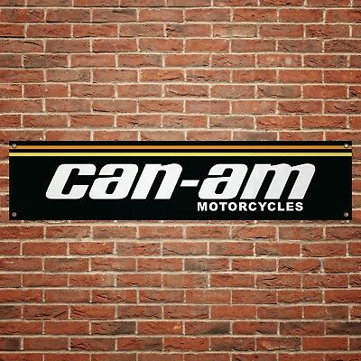 Can AM Motorcycles Banner Garage Workshop Motorcycle PVC Sign Trackside Display