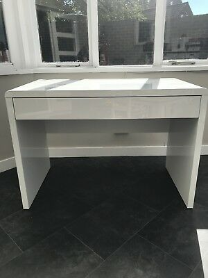 White Gloss Home Study Office Desk Table