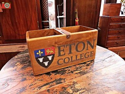 A Vintage Style, Eton College Wooden Box, Trug, Planter. Many Uses. Condiments?