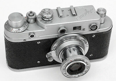 ZORKI C Russian Rangefinder Camera w Industar-22 50mm f/3.5 & Case