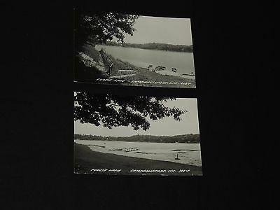 Vintage Postcard Lot Forest Lake Cambellsport WI Real Photo Lake (*665)