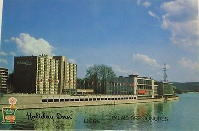 1960s Holiday Inn Hotel Liege Belgium Stationery Set Postcard Envelopes Paper