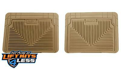 Husky Liner 52023 Tan Heavy Duty 2nd Or 3rd Seat Floor Mats for 87-12 GM 2WD/4WD