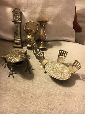 Job Lot Of Vintage Mixed Brass Ornaments Collectors Items.