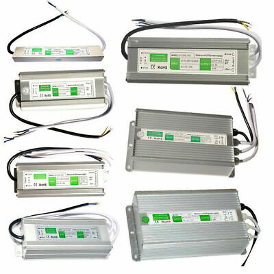 DC 12V 10W - 250W IP67 Waterproof LED Light Strip Bulb Power Transformer Driver