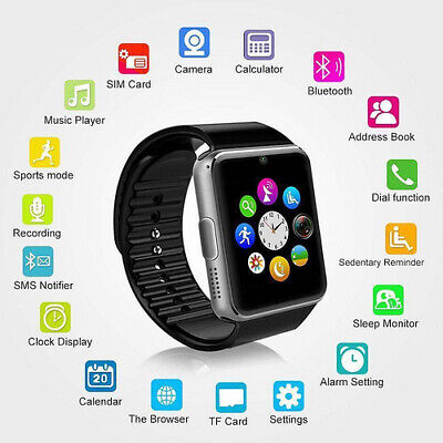 X6 Smart watch bluetooth waterproof gsm SIM Phone CAM for android samsung ios