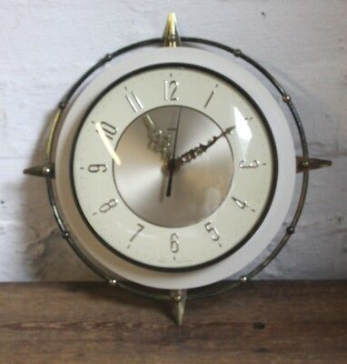 Metamec sunburst wall clock 1960's/70's 12""