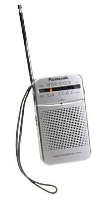 Panasonic RF-P50 AM/FM Pocket Radio Portable 2-Band Receiver SILVER