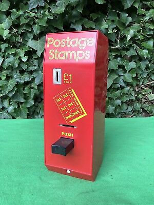 Vintage British Wall Royal Mail GPO Postage Stamps Vending Machine
