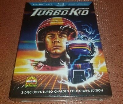 Turbo Kid 3 disc set BLURAY DVD Ultra Turbo charged collector edition NEW SEALED