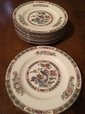 wedgwood kutani crane Salad / Bread And Butter Plates Set Of 8