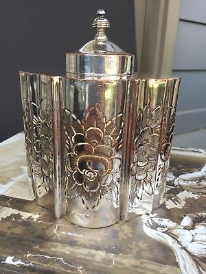 Antique English Silver Plate Tea Caddy Box
