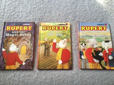 Rupert The Bear Collectable Books By Ladybird Books