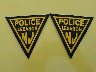 Pair Of Lebanon New Jersey Police Patches