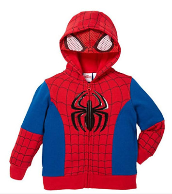 MARVEL Spider-Man Kids Costume With Mesh Mask Red Hoodie Red