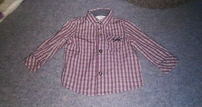 Moonsoon Baby Boy Shirt 3-6 months checked
