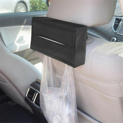 1x Black PU Leather Tissue Box Car Home Hotel Pumping Paper Napkin Holder Case G