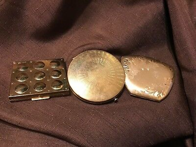 Lot Of 3 Vintage Compacts