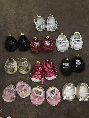 Various Build A Bear shoes PICK ONE PAIR, Black , Pink Sparkly, Red ,Sketchers,