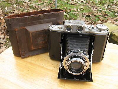 Taisei Koki Welmy Six Rangefinder Camera in Zeiss Ikon Leather Case AS IS