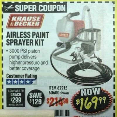 PAY $169 99 Harbor Freight coupon--Airless Paint Sprayer exp 11 03 18