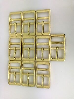 Double Bar Buckle - 25mm/1inch - SOLID BRASS or Stainless Steel