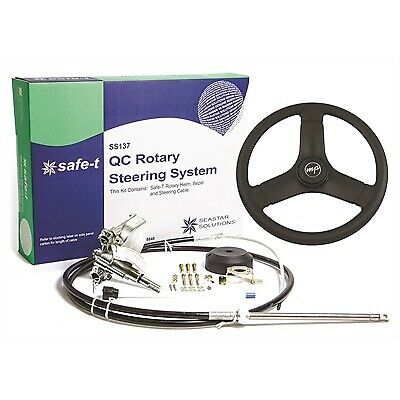 14ft Teleflex Safe-T SS13714 Quick Connect Boat Rotary Steering Cable /& Helm Kit