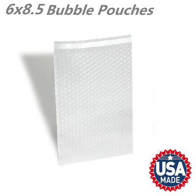 "6"" x 8.5"" Clear Self Sealing Bubble Out Pouch Cushioning Shipping Bags"