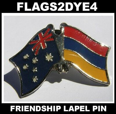 Australia flag Armenia Armenian flag lapel pin badge + AUSTRALIA POST TRACKING