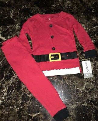 6b06e3d6aaeb CARTER S BABY BOY S 2-Piece Christmas Santa Holiday Pajamas Set ...