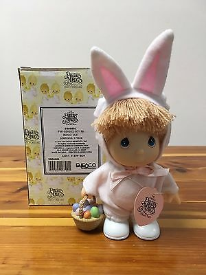 PRECIOUS MOMENTS 1994 Hi Babies Boy in Bunny Suit Easter Doll (#580880L) w/ Box