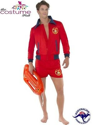 Baywatch Lifeguard Costume Short Jacket Licensed Pool Beach Mens Costume
