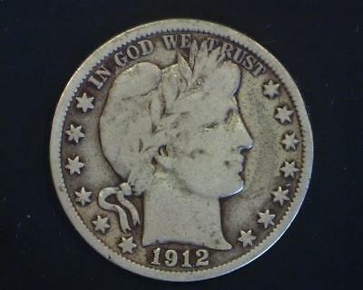 1915-S Barber Silver Half-Dollar Very Good Plus  ~392720