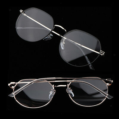 Fashion Men Womens Metal Frame Clear Lens Irregular Round Circle Eye Glasses