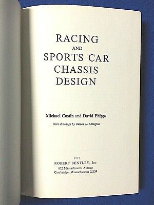 Racing and Sports Car Chassis Design by Costin and Phipps Free Shipping