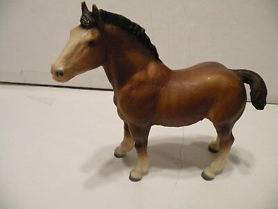 Vintage 1960's  BREYER TRADITIONAL CHESTNUT CLYDESDALE FOAL 7x7