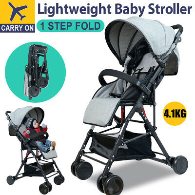 Compact Lightweight Baby Stroller Pram Portable Carry on Plane Jogger Pushchair